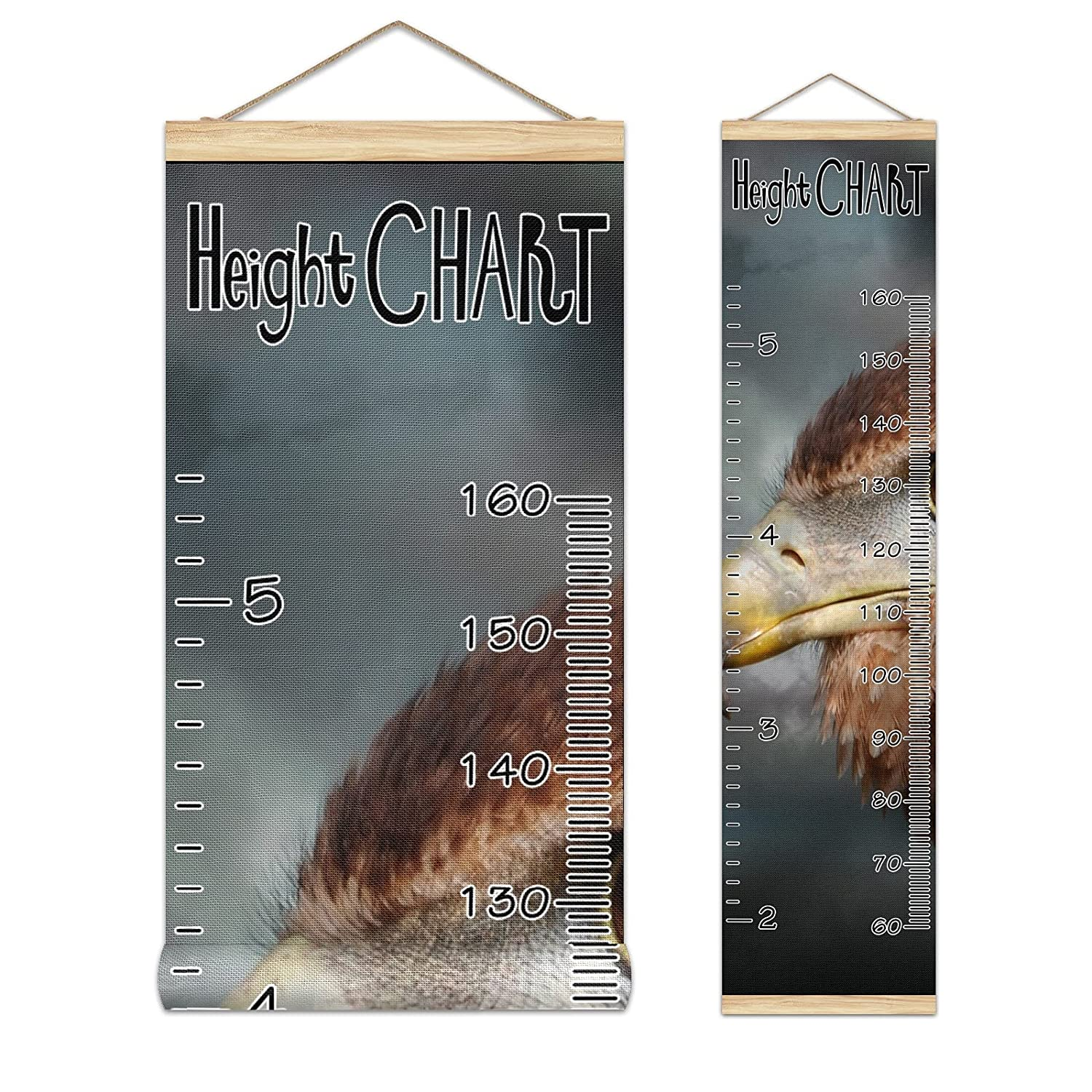 Kids Special sale item Growth Chart Ruler for Wall Measure Wood Frame Height Year-end gift