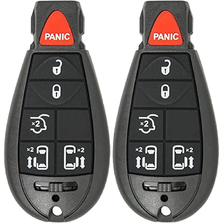 2* For 2010 Chrysler Replacement Car Key Fob Keyless Entry Remote Start Control