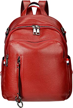 7a56f16fd1fa ALTOSY Fashion Genuine Leather Backpack Purse for Women Shoulder Bag Causal  Daypack