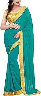 فستان هندي للسيدات من Vihaan Impex الهندي فساتين للنساء تصميم بوليوود ساري فستان لحفلات الزفاف