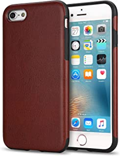 TENDLIN iPhone 6s Case with Premium Leather Outside and Flexible TPU Silicone Hybrid Slim Case for iPhone 6 and iPhone 6s (Brown)