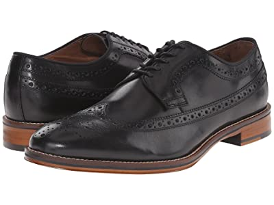 Johnston & Murphy Conard Casual Dress Wingtip Oxford (Black Italian Calfskin) Men