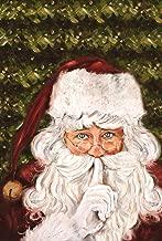 Toland Home Garden Secret Santa 28 x 40 Inch Decorative Christmas Holiday Shhh Beard Hat House Flag