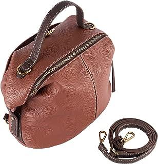 Mentor F-7635 Bucket Bag for Women Top Handle Handbags Satchel Leather Shoulder Crossbody Bucket Bag