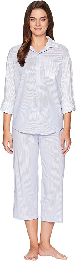 Stripe Long Sleeve His Shirt Pajama Set