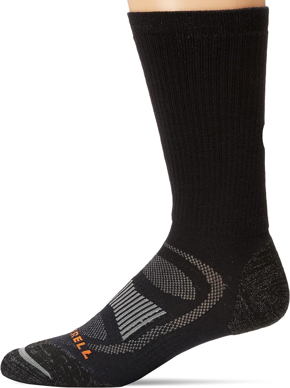 Merrell mens Zoned Crew Hiker Socks