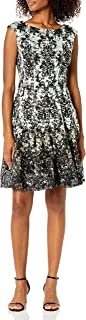 Julian Taylor womens Chandelier Printed Lace Dress Casual Dress