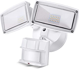 LED Security Light 2800LM, 28W Outdoor Motion Sensor Light, 5500K, IP65 Waterproof, Adjustable Head Flood Light for Entryways, Stairs, Yard and Garage