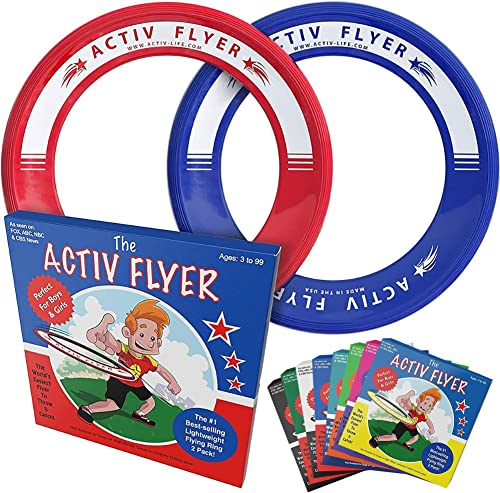 Activ Life Kid's Flying Rings [2 Pack] Fly Straight & Don't Hurt-80% Lighter Than Standard Flying Discs - Replace Scr...