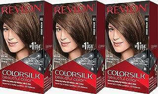 Revlon Colorsilk Beautiful Color, Medium Brown, 3 Count