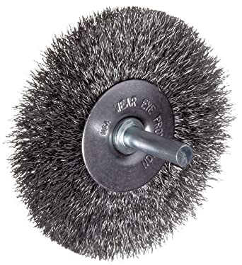 3 Mounted Crimped Wire Wheel Carbon Steel