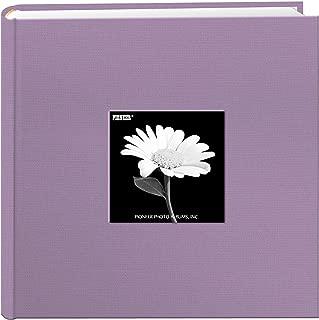 Fabric Frame Cover Photo Album 200 Pockets Hold 4x6 Photos, Misty Lilac