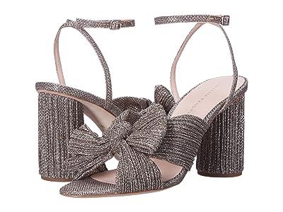 Loeffler Randall Camellia Knot Mule (Champagne Sparkle Metallic) Women