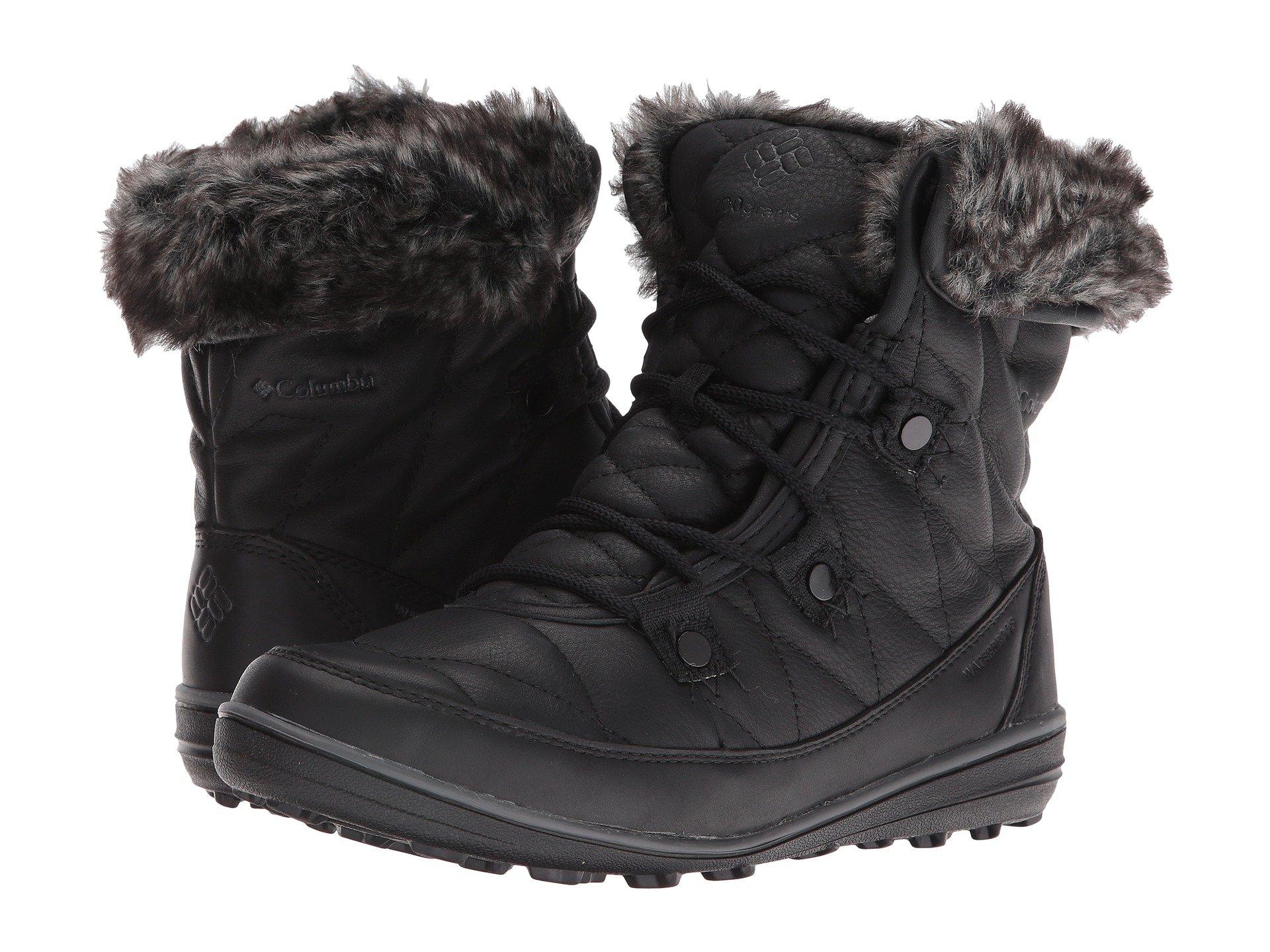 0f72753e17b Columbia Heavenly Shorty Omni-Heat Leather After Dark In Black Dark Fog