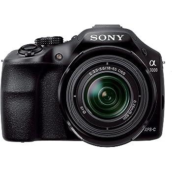 Sony Alpha a3000 ILCE-3000K 20.1 MP Mirrorless Digital Camera - Black - 18-55mm OSS Lens
