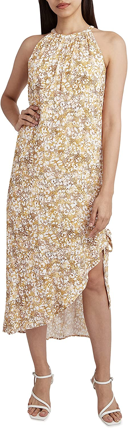 BCBGeneration Mail order Women's Midi Dress Max 55% OFF with and Slit Side Neck Halter