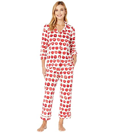 BedHead Pajamas 3/4 Sleeve Classic Notch Collar Pajama Set (An Apple A Day) Women