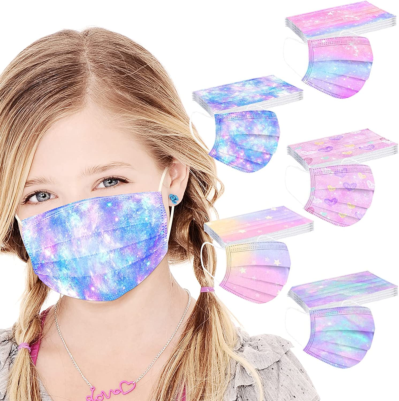 50PCS Kids Disposable Face_Mask Latest item Starry w Design Sky Very popular Cute Cartoon
