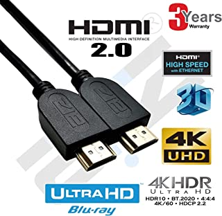 ATZ High Speed HDMI v2.0 Cable 4K with Ethernet, 2m