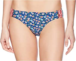 Laundry by Shelli Segal Patchwork Floral Tab Side Bikini Bottom