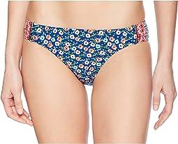 Patchwork Floral Tab Side Bikini Bottom