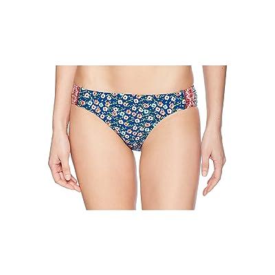 Laundry by Shelli Segal Patchwork Floral Tab Side Bikini Bottom (Multi) Women