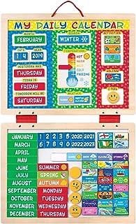 "Melissa & Doug My Magnetic Daily Calendar, Seasonal & Religious (Daily Magnetic Calendar, Fabric-Hinged Dry-Erase Boards, 12"" H x 15.75"" W x 1"" L)"
