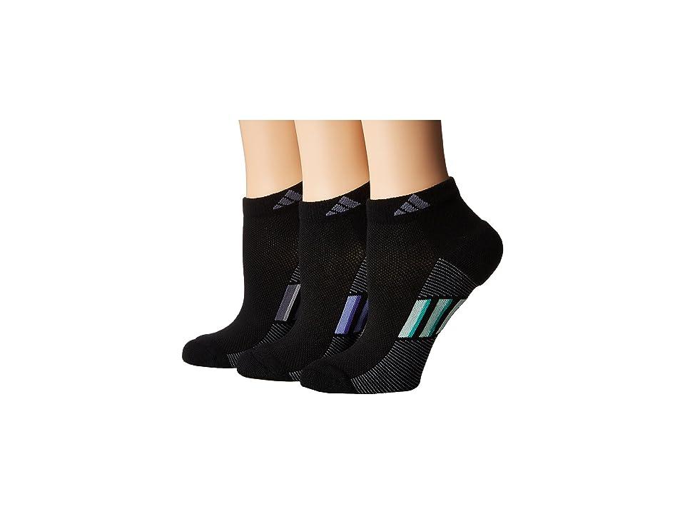 adidas Climacool(r) Superlite Stripe Low Cut Socks 3-Pack (Black/Onix/Chalk Purple/Purple/Onix/Light Onix/Frozen Green/Hi-R) Women's Low Cut Socks ...