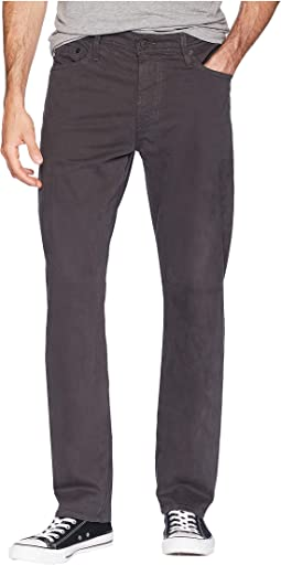 Everett Slim Straight Leg in Dark Rock