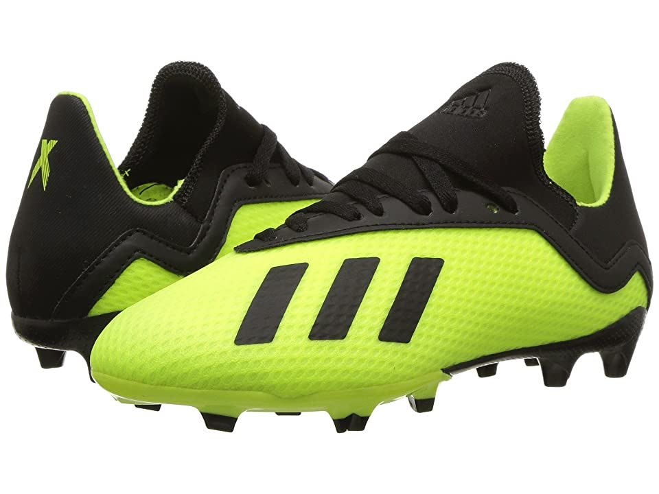 adidas Kids X 18.3 FG Soccer (Little Kid/Big Kid) (Solar Yellow/Black/Solar Yellow) Kids Shoes