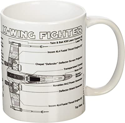 Star Wars Mug X-wing Fighter Sketch Pyramid International Cups Mugs