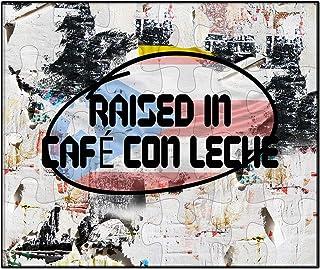 Makoroni - Raised in CAFÉ CON Leche Puerto Rican - Puerto Rico - Jigsaw Puzzle,