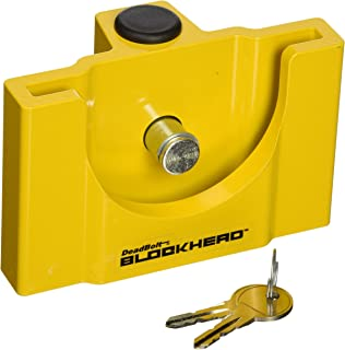CT Johnson Enterprises (TCL3-YL) Deadbolt Blockhead Trailer Coupler Lock