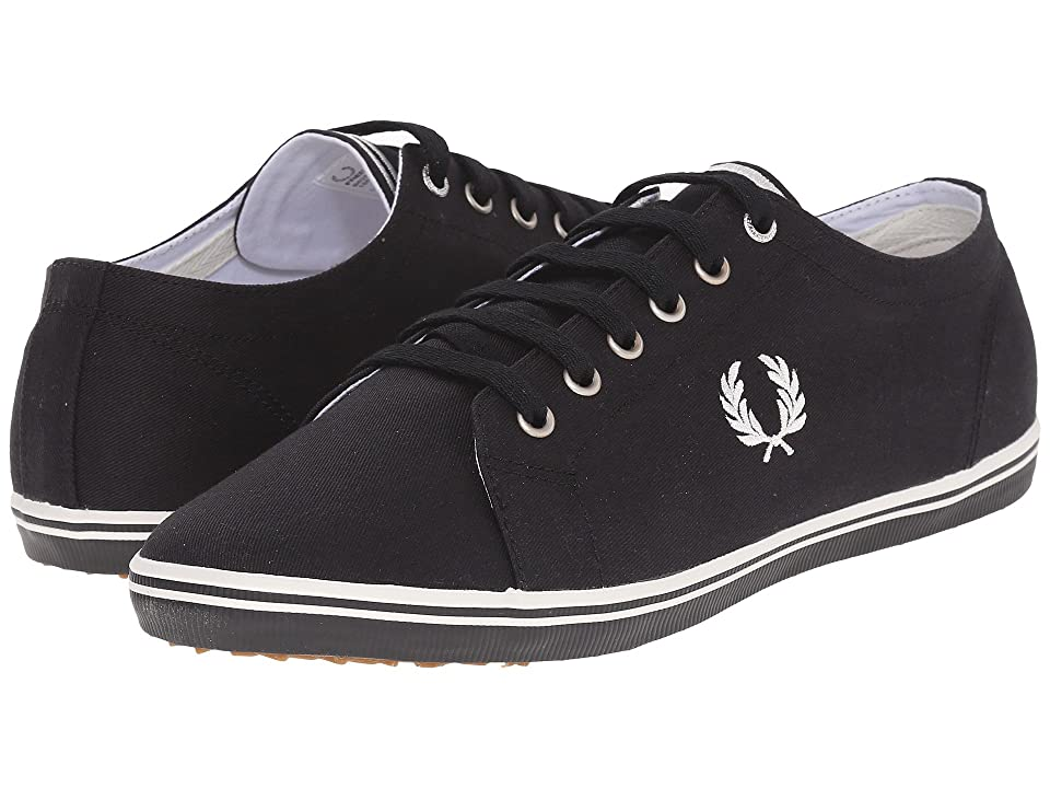 Fred Perry Kingston Twill (Black/Porcelain) Men's Lace up casual Shoes