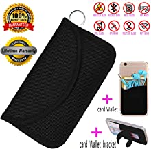 BEST-YXG Faraday Bag,100% Anti-Spying Anti-Tracking GPS RFID Signal Blocker Bag for Cell Phone Privacy Protection and Car Key FOB, Healthy Handset Privacy Protection Travel & Data Security(Black)