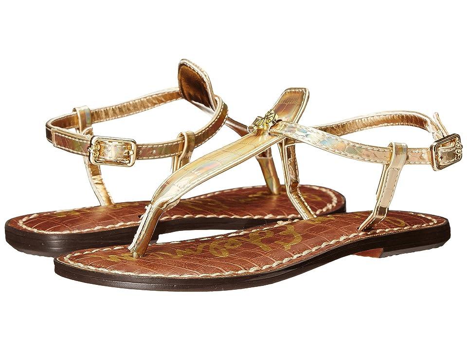443ebcd29b184c Sam Edelman Kids Gigi Charm (Little Kid Big Kid) (Pale Gold Holographic  Croco) Girl s Shoes
