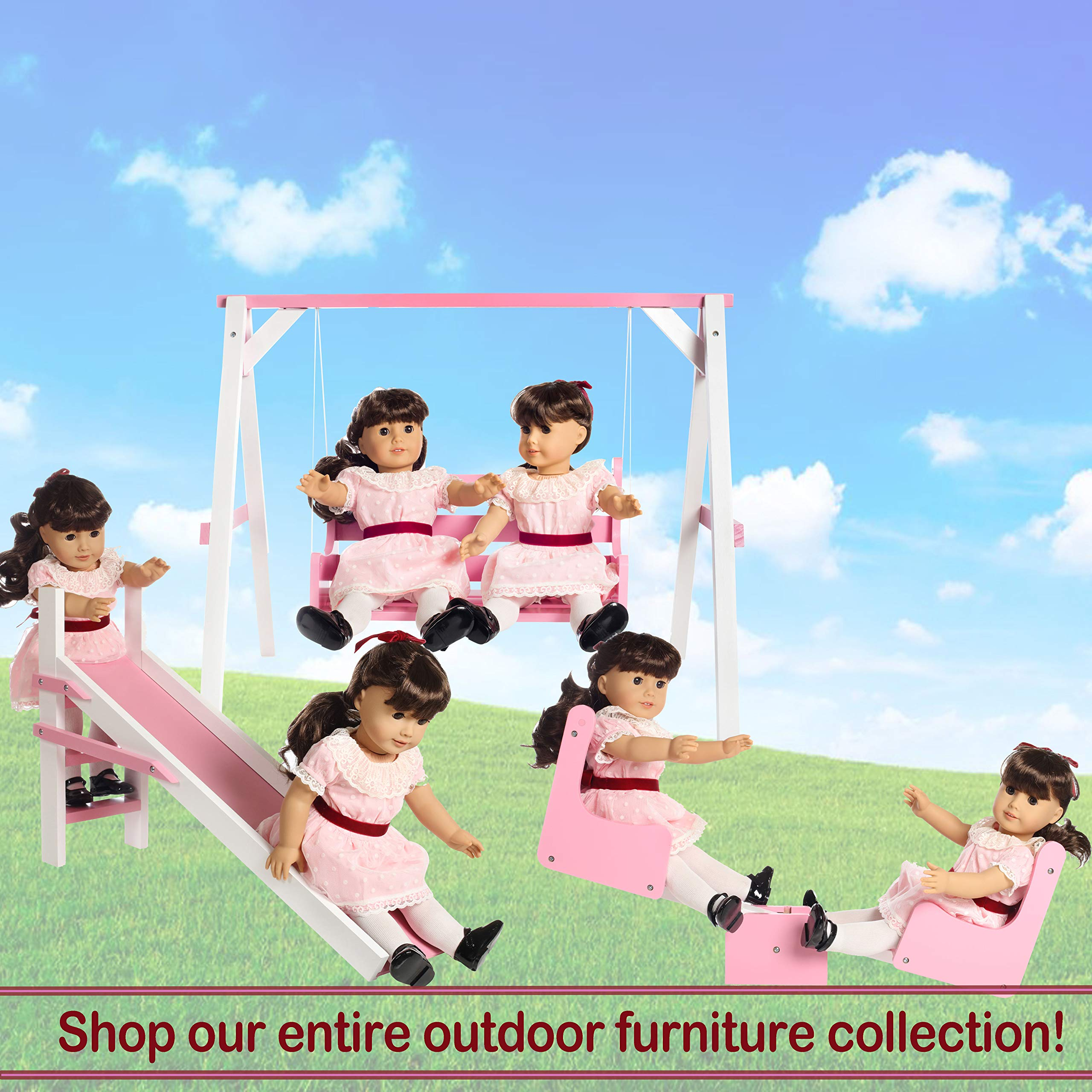 Beverly Hills Playground Seesaw Fits 2 18 Dolls A for American Girl Dolls