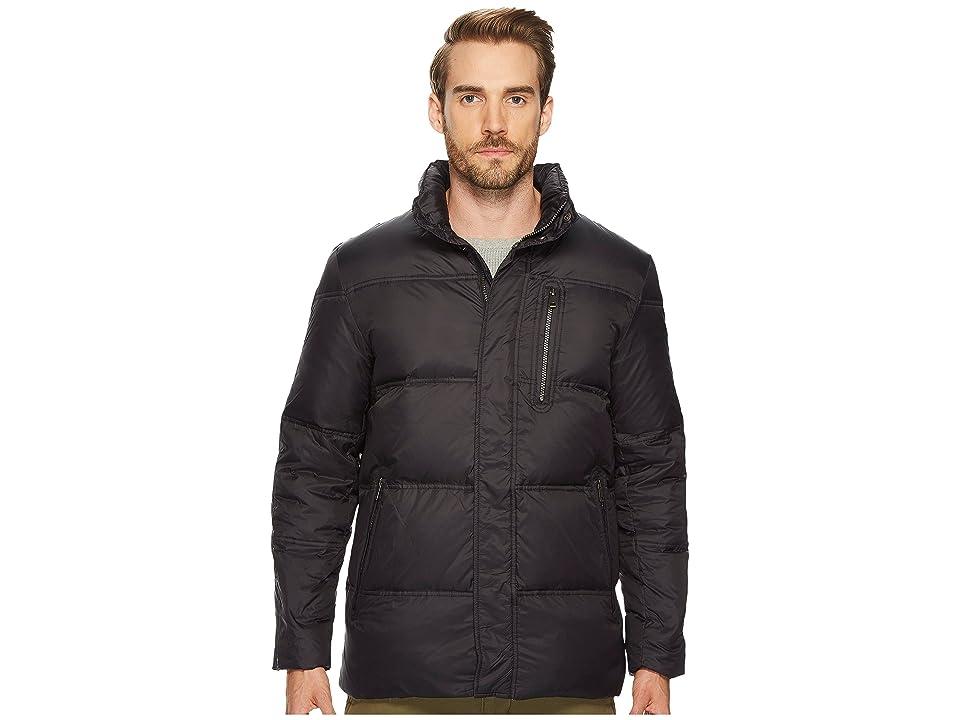 Cole Haan 32 Zip Front Packable To Travel Pillow with Fleece Trim Quilted Jacket (Black) Men