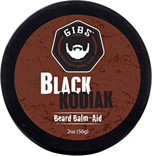 GIBS Grooming Beard Balm- Strengthens & Softens Beards & Mustaches with Sweet Almond, Grapeseed Oil & Beeswax – Organic Beard Styling Cream for Men, 2 oz.