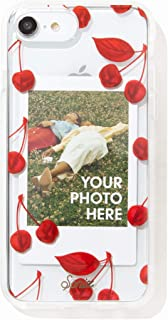 Sonix Cherry Photo Frame Cell Phone Case [Military Drop Test Certified] Protective Clear Polaroid Picture Case Series for Apple iPhone 6, iPhone 7, iPhone 8