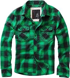 Brandit Hombres Check Camisa Rojo/Negro