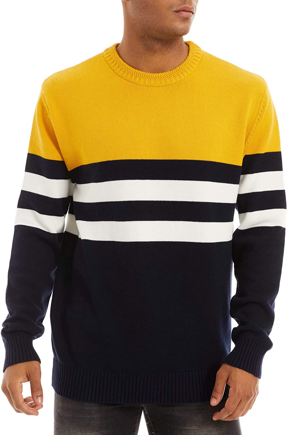 MAGCOMSEN Limited price Men's Crewneck Sweater Soft Cash special price Thermal Sweatshirt Knitted