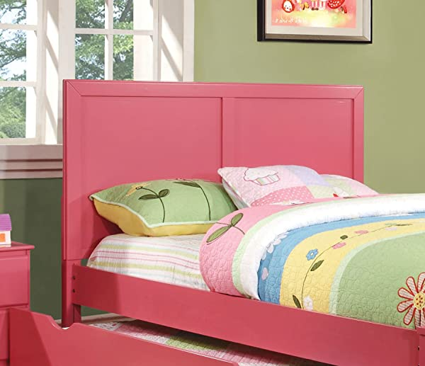 Furniture Of America Kolora Adjustable Youth Headboard Pink Full To Queen
