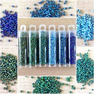 20g Seed beads 110 Opaque Blue Pearl Luster Seed Bead Rocailles NR 292 Opaque seed beads Blue seed beads