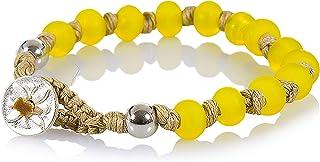 Bracciale Donna, Uomo, Bambino - Nené Italy, braccialetto artigianale, con Perle in Vetro, Lavorato a Lume di 7mm, Made in...