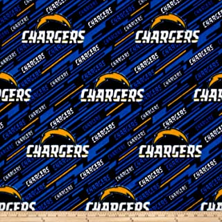 Fabric Traditions NFL Fleece Los Angeles Chargers Blue Fabric By The Yard
