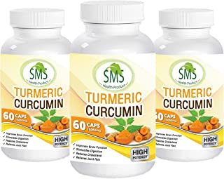 Turmeric Curcumin with BioPerine Highest Potency. Premium Joint & Healthy Inflammatory Support with 95% Standardized Curcu...