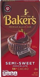 Baker's Premium Semi-Sweet Chocolate Baking Bar (4 oz Boxes, Pack of 12)