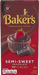 Baker's Premium Semi Sweet Chocolate Baking Bar (4 oz Bars, Pack of 12)