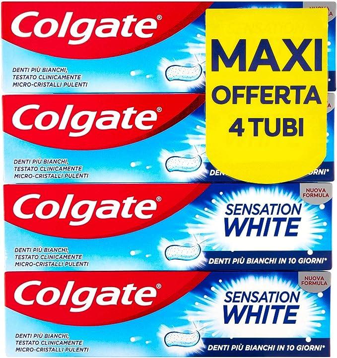 158 opinioni per Colgate Dentifricio Sbiancante Sensation White, Denti Più Bianchi In 10 Giorni,